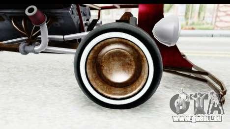 Unique V16 Fordor Ratrod pour GTA San Andreas vue arrière