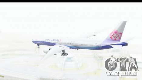 Boeing 777-300ER China Airlines Dreamliner pour GTA San Andreas vue de droite