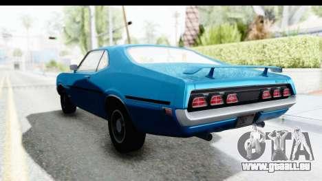 Mercury Cyclone Spoiler 1970 pour GTA San Andreas sur la vue arrière gauche