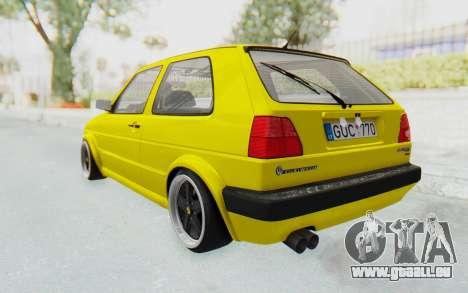 Volkswagen Golf Mk2 Lemon pour GTA San Andreas laissé vue
