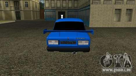 VAZ 2107 Sport pour GTA San Andreas vue arrière