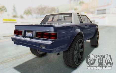 GTA 5 Willard Faction Custom Donk v3 IVF für GTA San Andreas zurück linke Ansicht