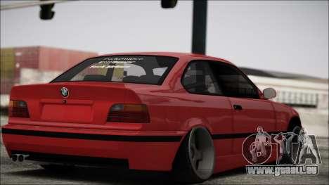 BMW E36 Stance für GTA San Andreas zurück linke Ansicht