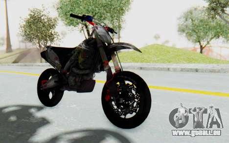 Kawasaki KX125 Supermoto v2 High Modif für GTA San Andreas rechten Ansicht