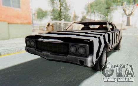 White Zebra Sabre Turbo für GTA San Andreas