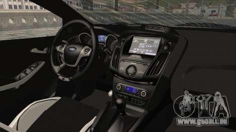 Ford Focus ST 2013 PDRM pour GTA San Andreas vue intérieure