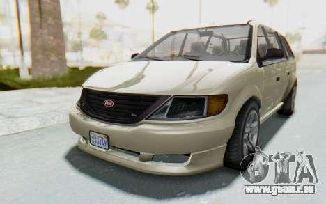GTA 5 Vapid Minivan IVF für GTA San Andreas zurück linke Ansicht