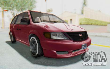 GTA 5 Vapid Minivan Custom without Hydro pour GTA San Andreas