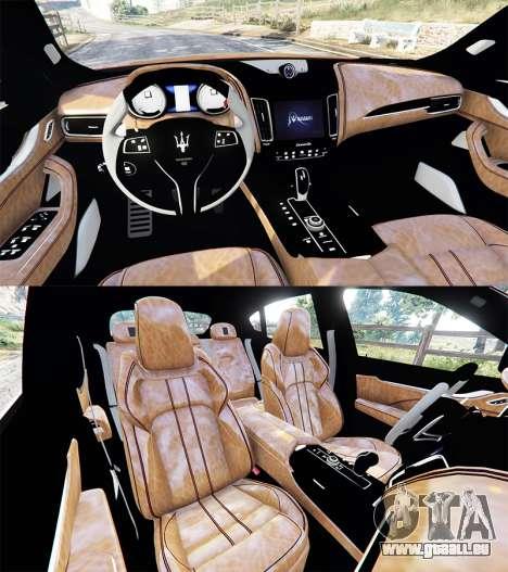 GTA 5 Maserati Levante 2017 hinten rechts