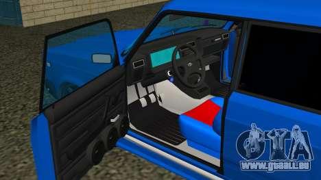 VAZ 2107 Sport pour GTA San Andreas vue de dessus