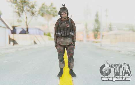 COD MW2 Russian Paratrooper v2 pour GTA San Andreas deuxième écran