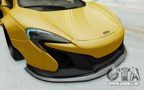 McLaren 650S Spyder ZenWorks pour GTA San Andreas vue de dessous