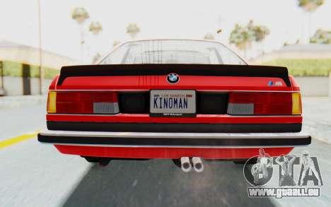 BMW M635 CSi (E24) 1984 IVF PJ2 pour GTA San Andreas vue de dessous