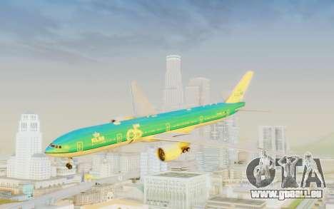 Boeing 777-300ER KLM - Royal Dutch Airlines v3 für GTA San Andreas zurück linke Ansicht