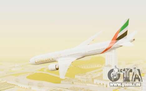 Boeing 777-300ER Emirates für GTA San Andreas linke Ansicht