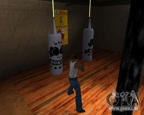 Poire De Boxe pour GTA San Andreas cinquième écran