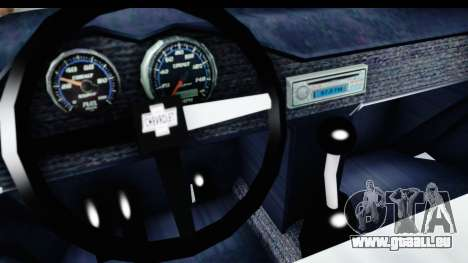 Chevrolet 3100 Diesel v2 pour GTA San Andreas vue intérieure