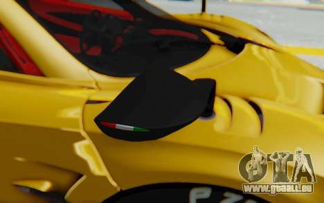 Pagani Huayra BC 2016 für GTA San Andreas Rückansicht