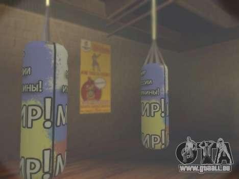 La poire avec inscription monde, de la Russie et pour GTA San Andreas