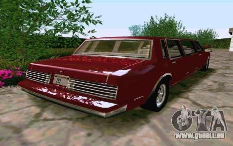 Tahoma Limousine v2.0 (HD) pour GTA San Andreas vue de droite