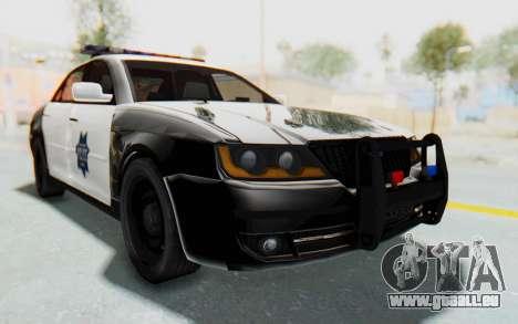 ASYM Desanne XT Pursuit v2 pour GTA San Andreas vue de droite