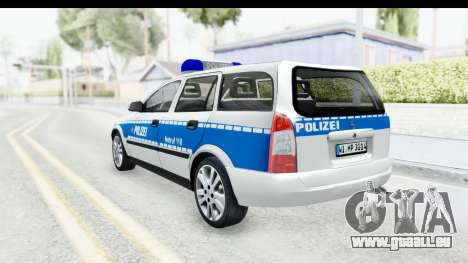 Opel Astra G Variant Polizei Hessen pour GTA San Andreas laissé vue