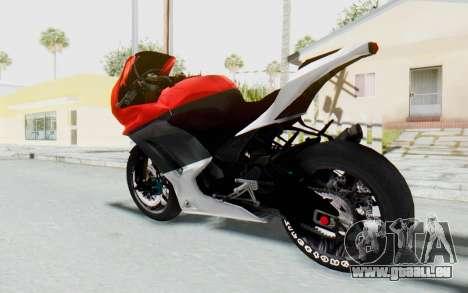 Kawasaki Ninja 250R Superbike pour GTA San Andreas laissé vue