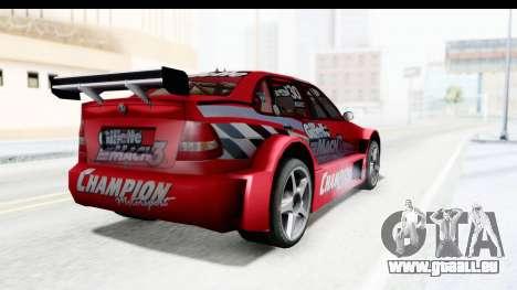 Volkswagen Polo TC2000 Temporada 2005(06) pour GTA San Andreas laissé vue