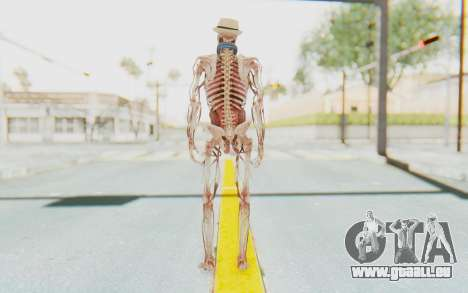 Skeleton with Hat and Glasses für GTA San Andreas dritten Screenshot