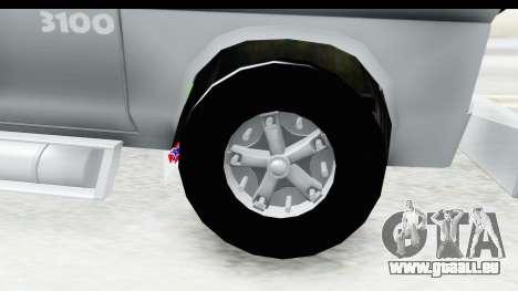 Chevrolet 3100 Diesel v2 pour GTA San Andreas vue arrière