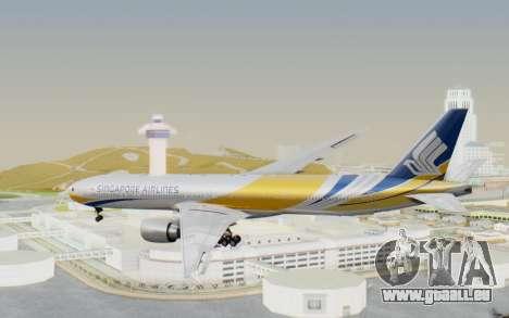 Boeing 777-300ER Singapore Airlines v2 für GTA San Andreas rechten Ansicht