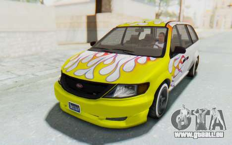 GTA 5 Vapid Minivan Custom without Hydro pour GTA San Andreas moteur