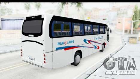 Neoplan Lasta Bus für GTA San Andreas zurück linke Ansicht