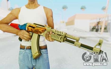 AK-47A1 Russian Flag für GTA San Andreas