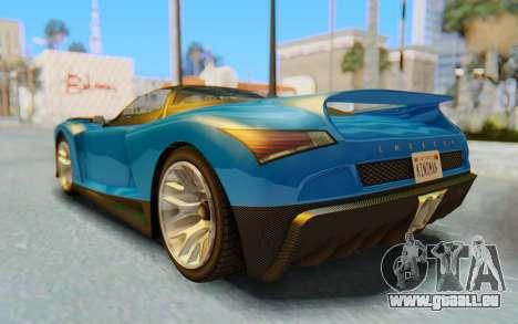 GTA 5 Grotti Cheetah SA Lights für GTA San Andreas Unteransicht