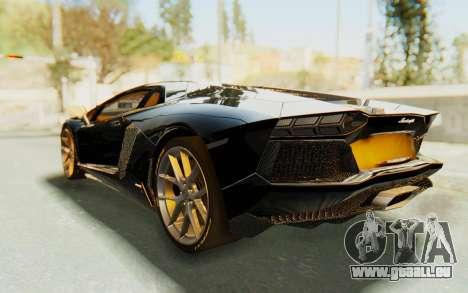 Lamborghini Aventador LP700-4 Light Tune pour GTA San Andreas laissé vue