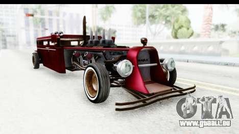 Unique V16 Fordor Ratrod pour GTA San Andreas vue de droite
