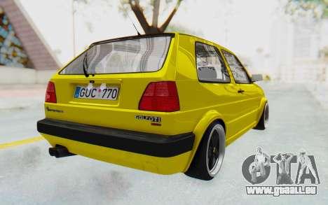 Volkswagen Golf Mk2 Lemon pour GTA San Andreas sur la vue arrière gauche