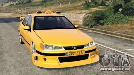 Taxi Peugeot 406 pour GTA 5
