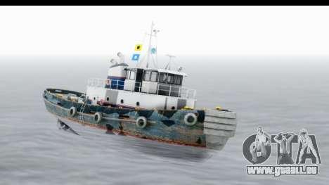 GTA 5 Buckingham Tug Boat v2 IVF für GTA San Andreas zurück linke Ansicht