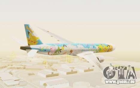 Boeing 777-300ER ANA JA754A - Peace Jet für GTA San Andreas rechten Ansicht