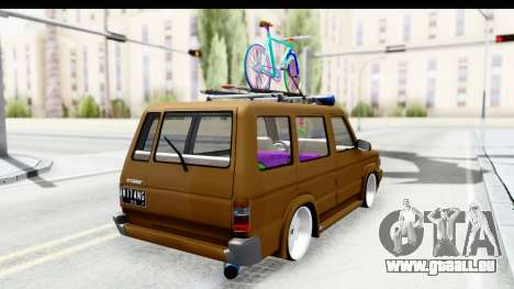 Toyota Kijang Grand Extra with Bike für GTA San Andreas linke Ansicht