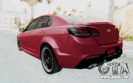 Chevrolet Super Sport 2014 pour GTA San Andreas sur la vue arrière gauche