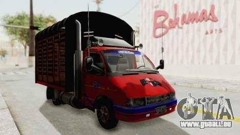 GAZelle 33021 Stylo Colombia pour GTA San Andreas vue de droite