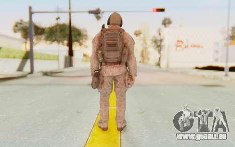 CoD MW2 Ghost Model v2 pour GTA San Andreas troisième écran