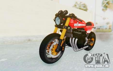 Honda CB750 Moge Cafe Racer pour GTA San Andreas sur la vue arrière gauche