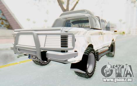 Ikco Super Peykan Pickup für GTA San Andreas zurück linke Ansicht