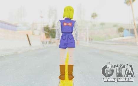 Dragon Ball Xenoverse Android 18 Showing Legs pour GTA San Andreas troisième écran