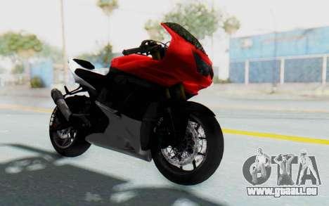 Kawasaki Ninja 250R Superbike für GTA San Andreas rechten Ansicht