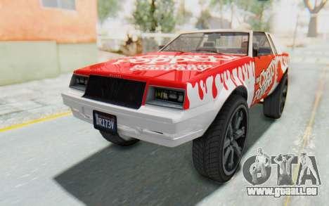 GTA 5 Willard Faction Custom Donk v3 pour GTA San Andreas vue de dessus